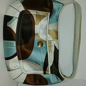 Multi colored Coach purse with dustbag
